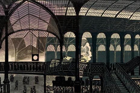 Liverpool Street Station Linocut Print