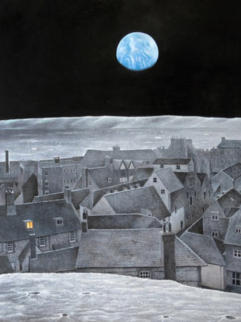 A Town In The Moon Limited Edition Print by Peter Messer