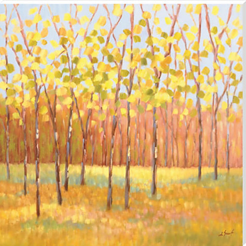 Yellow and Green Trees Canvas by Libby Smart