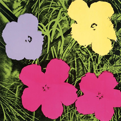 Andy Warhol Flowers Poster