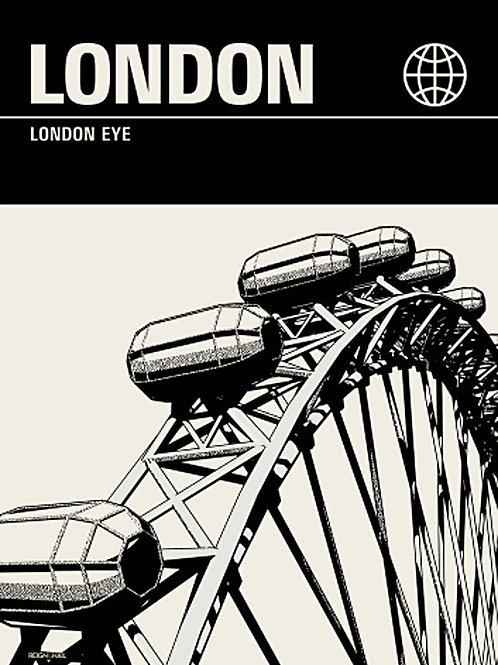 London Poster by Reign & Hail