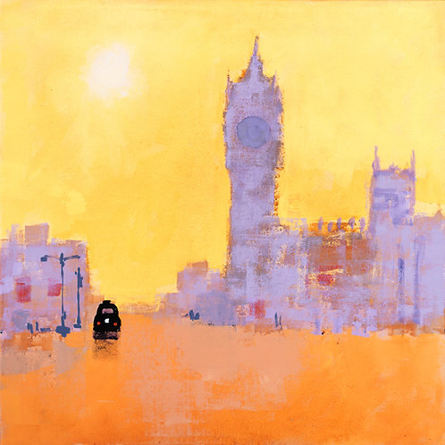 Black Cab Limited Edition Print by Colin Ruffell