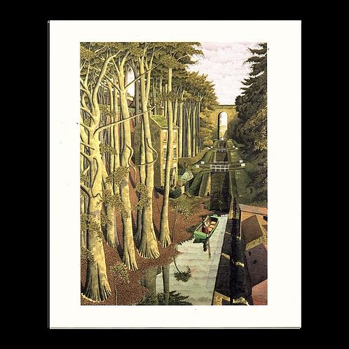 View from a Canal Bridge Print by Simon Palmer