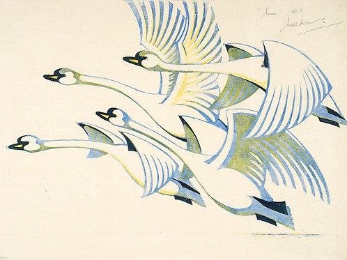 Sybil Andrews Swan Print