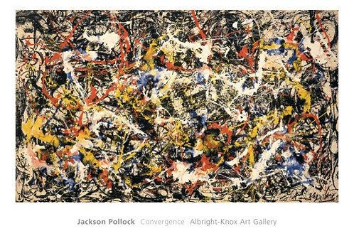 Convergence Art Print by Jackson Pollock