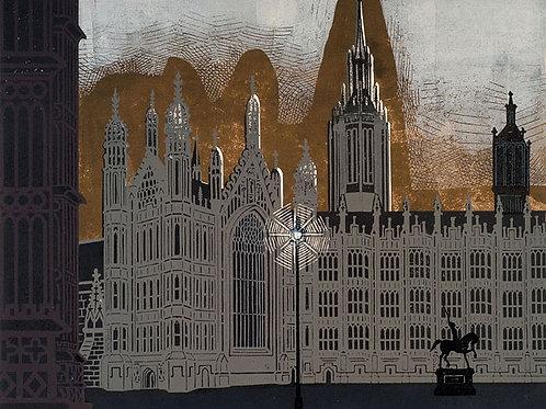 Edward Bawden London Prints - Houses of Parliament
