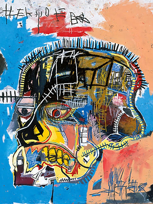 Basquiat Skull Poster