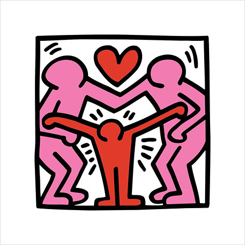 Keith Haring Family Poster