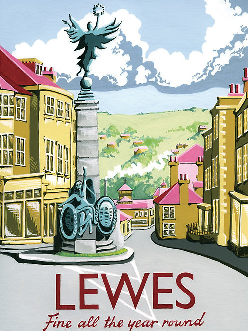 Lewes Poster by Kelly Hall