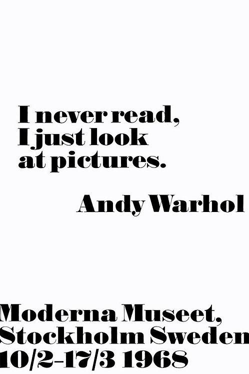 Andy Warhol Sayings Poster