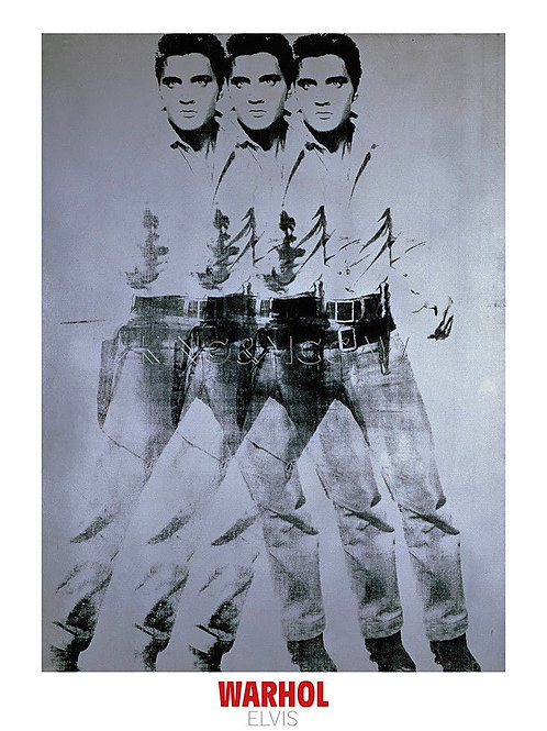 Triple Elvis Art Print Andy Warhol