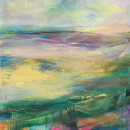 Soft Winds in Colour Canvas by Lesley Birch