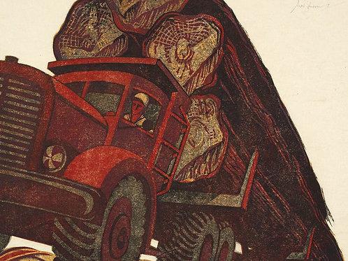 Sybil Andrews Linocut Print