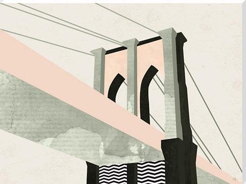 Brooklyn Bridge Canvas by Michelle Collins