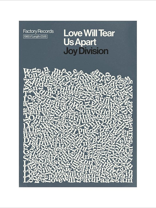 Joy Division Poster Reign and Hail