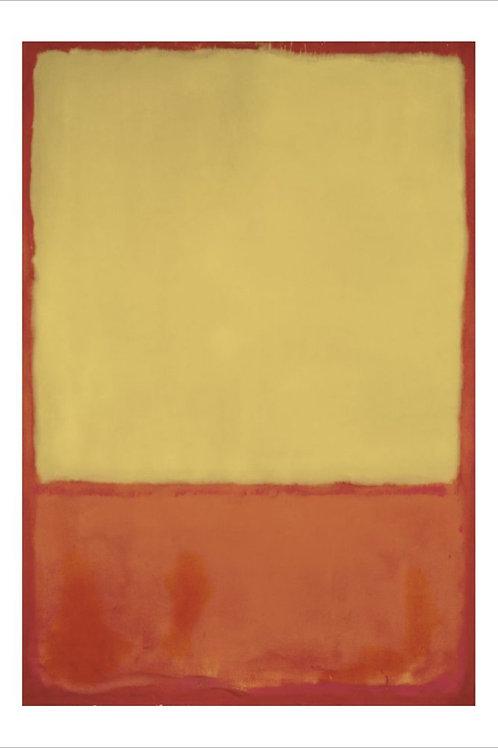 The Ochre Print by Mark Rothko