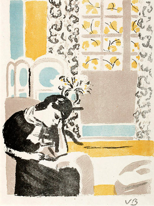 Girl Reading Limited Edition Print by Vanessa Bell