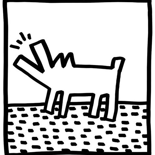 Barking Dog Poster by Keith Haring