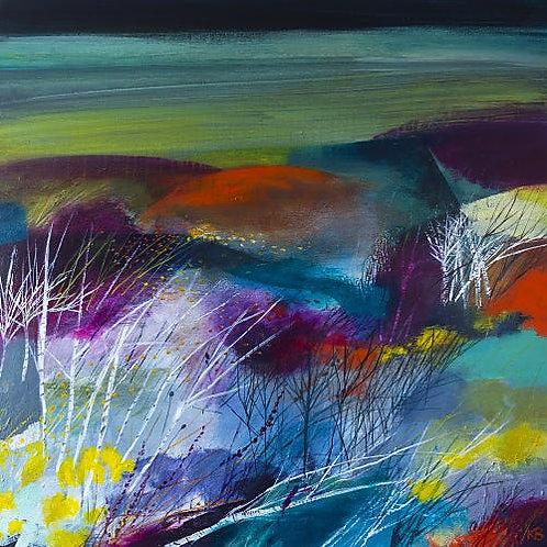 Bracken Woods Print on Canvas by Karen Birchwood