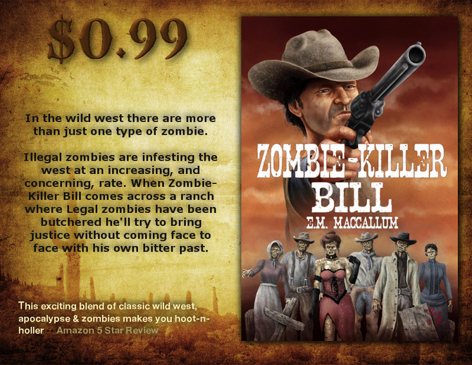 """Zombie-Killer Bill"" only 99cents!"