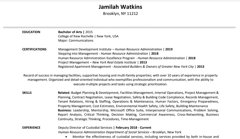 Jamilah Watkins