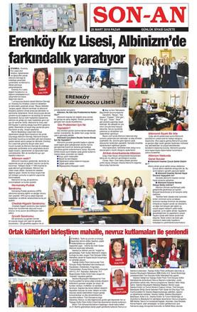 Erenköy Kız Lisesi öğrencileri, Albinizm'e Farkındalık çalışmaları yürütüyor.