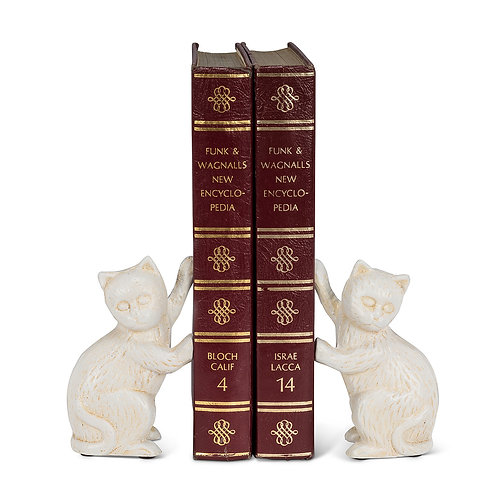 Pushing Cat Bookends