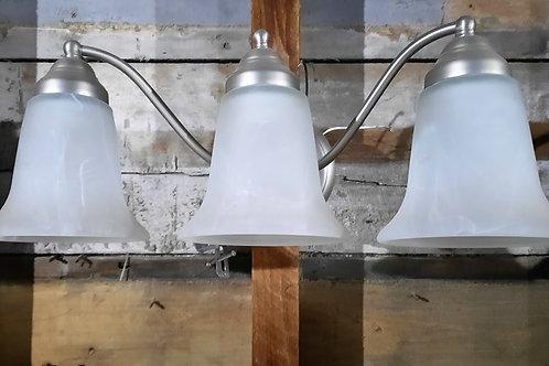 Silver 3 Light Vanity Light