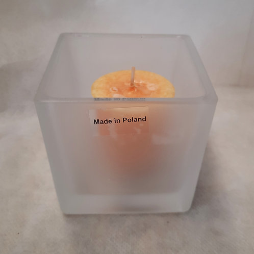 Pumpkin Candles with Holder