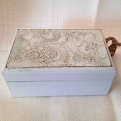 Small Green Storage Box with Lid