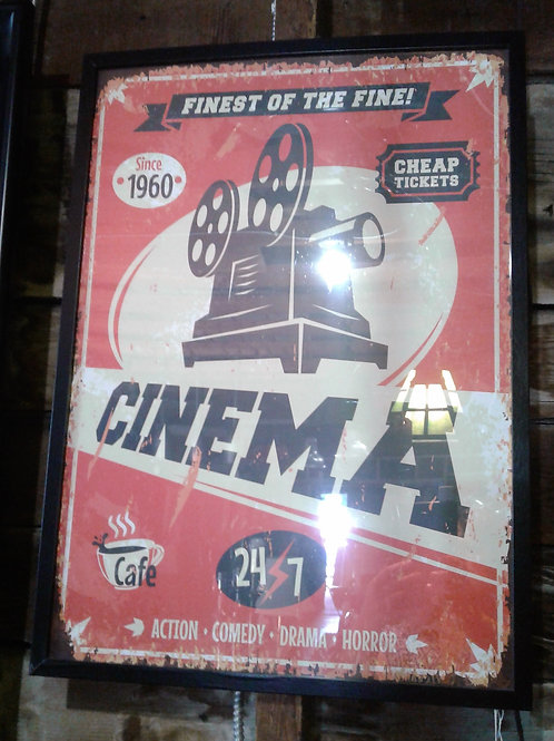 Old Fashioned Cinema Poster