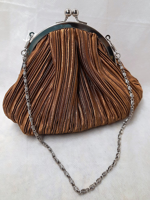 Small Gold Purse with Chain