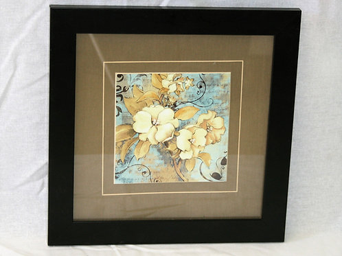Black Frame with Cream Flowers