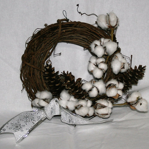 Wreath - Small with Cotton