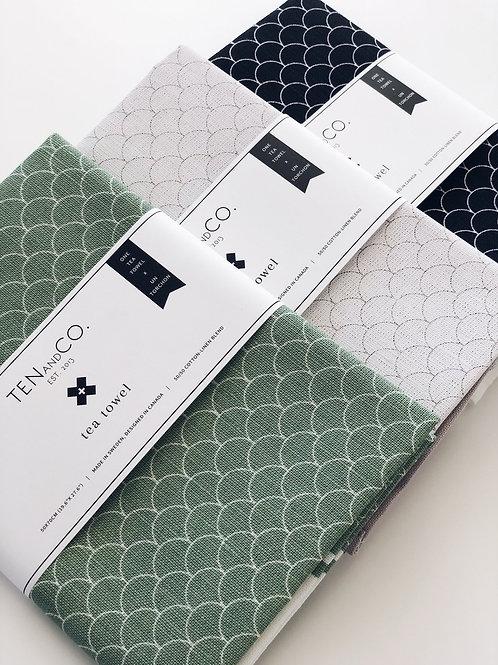 Ten & Co. Gift Set Scallop White/Gray