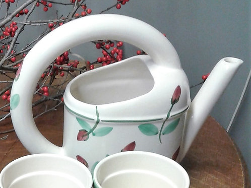 Ceramic Watering Can with Berries
