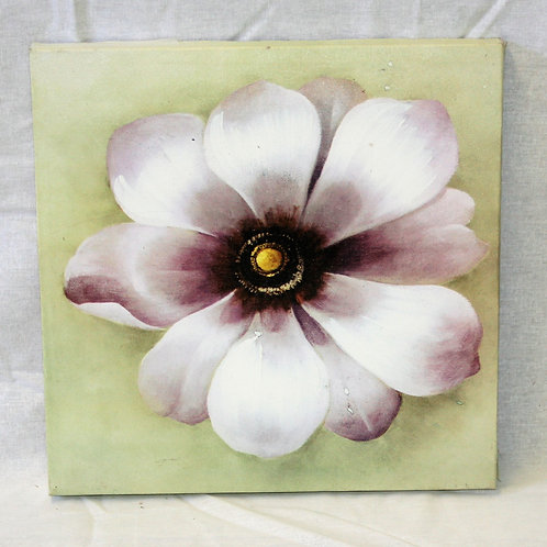 Purple/White Flower Canvas