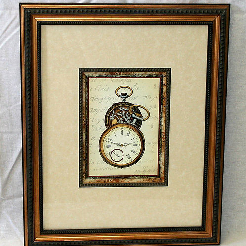 Timepiece Image in Double Mat