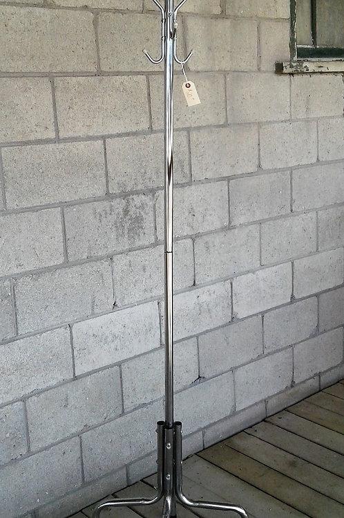 Chrome Floor Standing Coat Rack