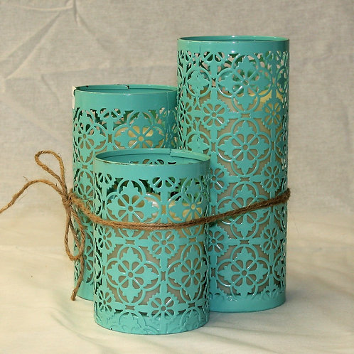 Set of 3 Metal Candle Holders