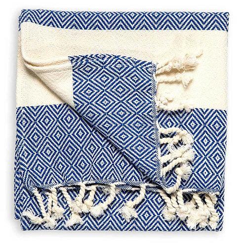 Pokoloko Turkish Hand Towel Diamond - Navy
