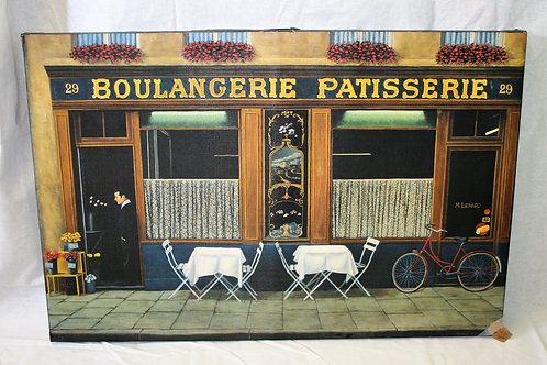 Large Paris Cafe Canvas