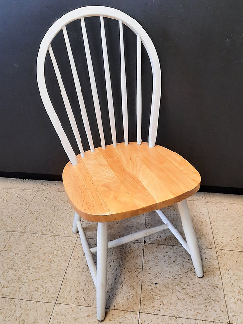 Ladder Back Chair White/Natural