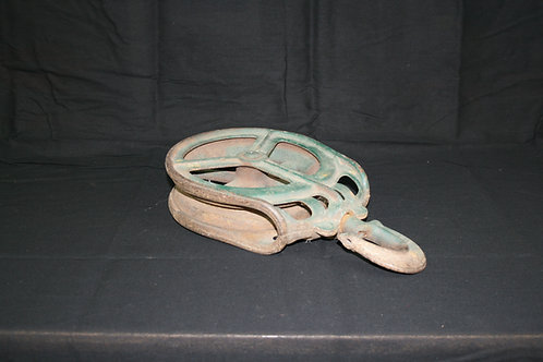 Large Old Pulley with Hook