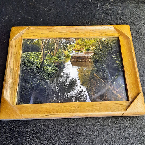 """Wood Frame with Picture 6""""x8"""""""