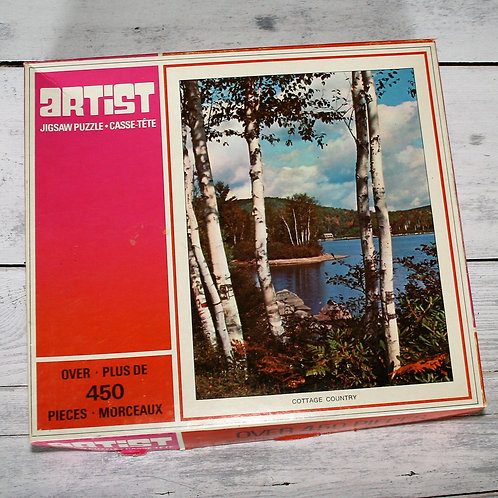 Birch Tree and Water Scene Puzzle