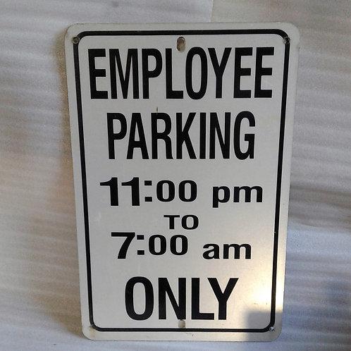 Employee Parking Sign