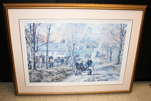 Signed Print Mennonite Horses - Peter Etril Snyder
