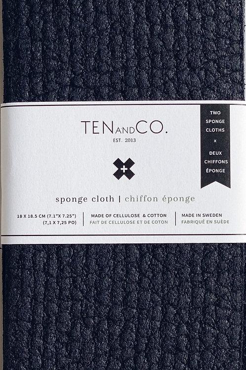 Ten & Co. Midnight Solid Sponge Cloth - 2 Pack