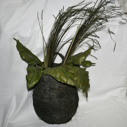 Wreath - Half Wall Basket with Greenery